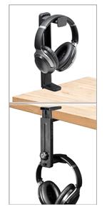 headphone stand hanger above or under desk