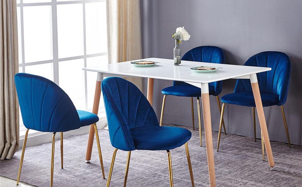 mid-century modern dining chairs set