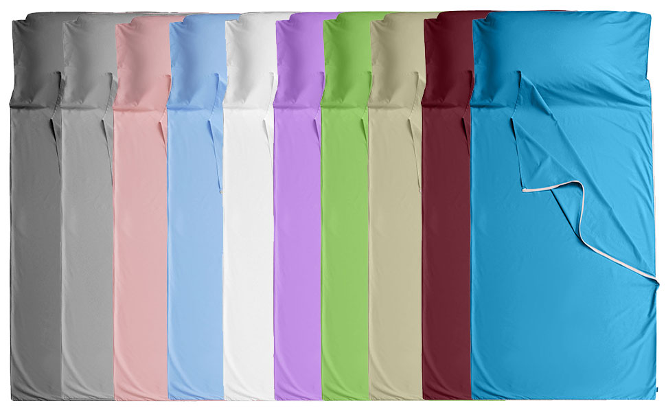 colors for sleeping bag liner