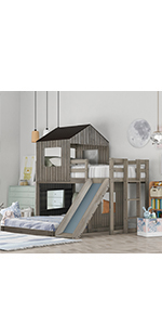 House Bunk Beds with Slide