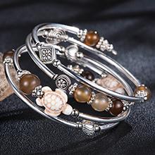 bangle flower beaded bracelet