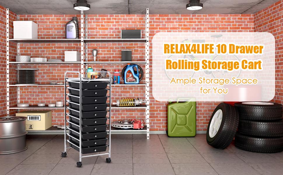 10 Drawers Storage Cart