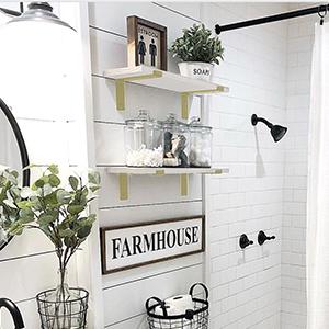 bedroom decor farmhouse decor office decor bathroom shelves bathroom wall decor