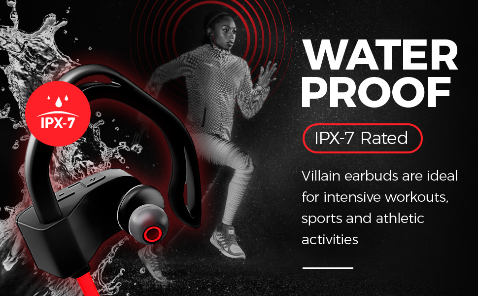 cordless headset headsets for running fitness working out runners outdoor waterproof sweatproof