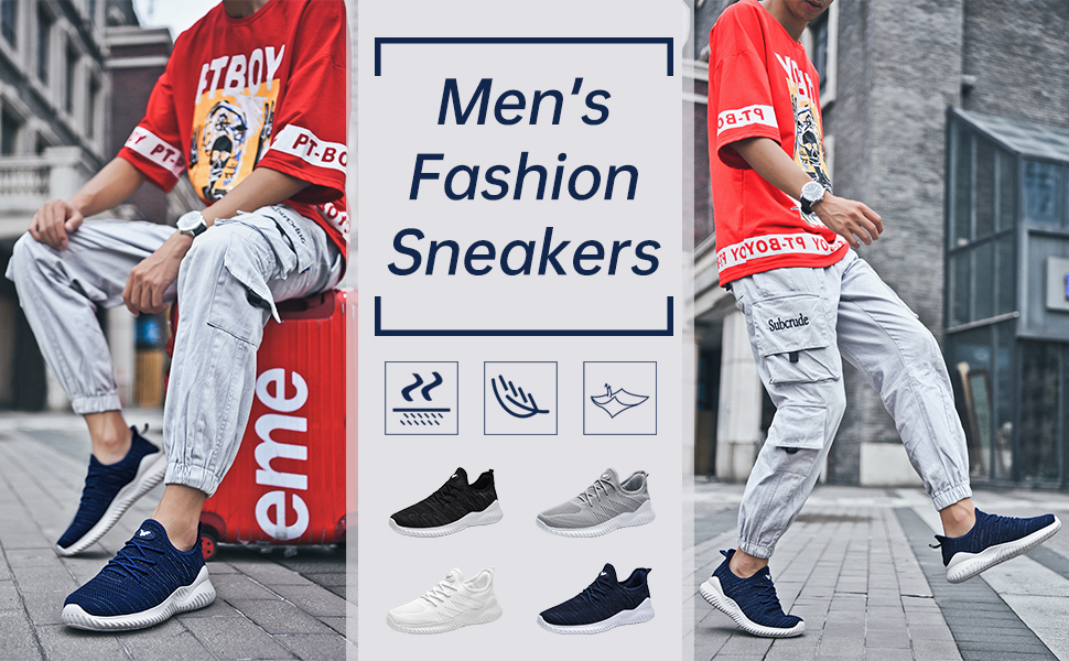 men memory foam shoes