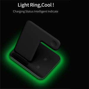 Light Ring Cool  Any Warphone 3 in 1 Wireless Charging Stand for Latest Airpods iPhone and iWatch, Compatible for iPhone 11 Pro Max/X/XS Max/8 Apple Watch Charger 5/4/ 3/2 /1 Airpods 2/3 49e44638 ac8d 4af2 ab13 809581eda12e