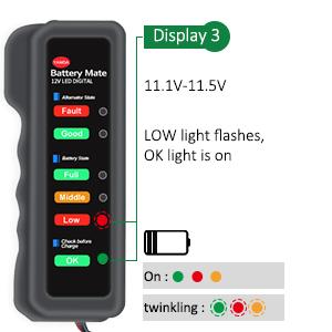 Battery tester alternator tester lamp status  (3)
