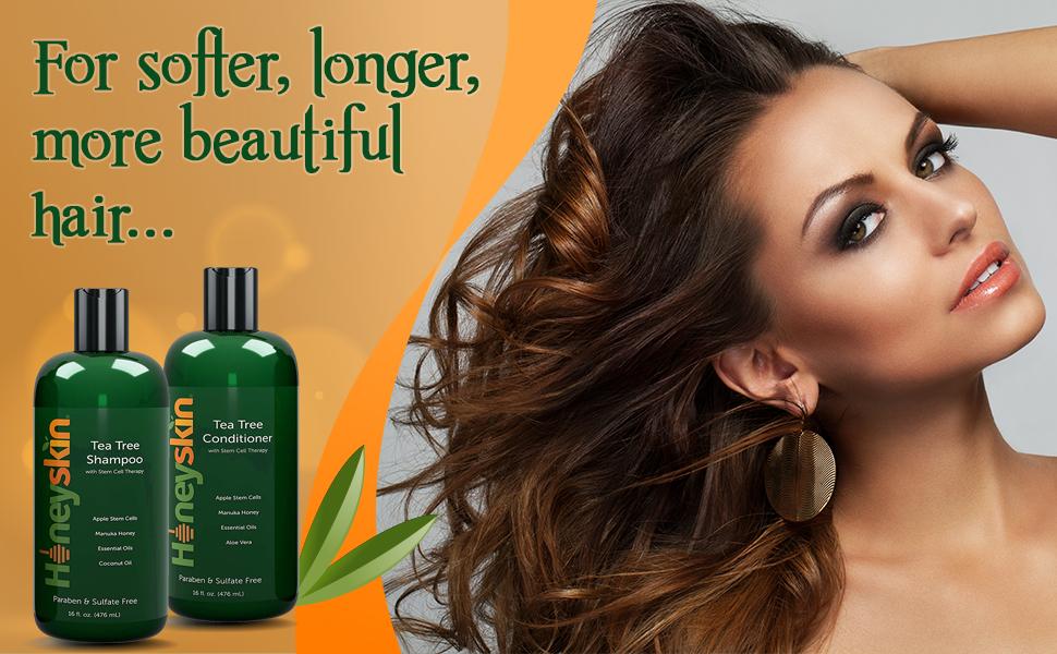 honeyskin tea tree shampoo and conditioner aloe vera tea tree oil manuka honey