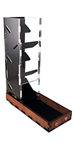 C4Labs Tall Classic Dice Rolling Tower Clear Tray Acrylic Wood Velvet noise reduction