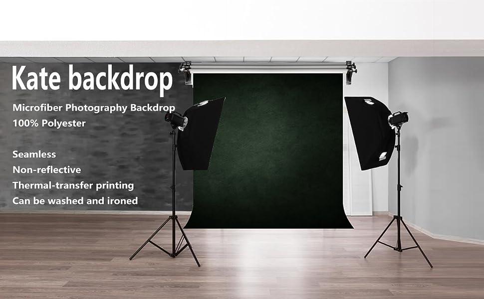 deep green black backdrop