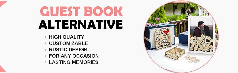 Guest Book Alternative, high quality, customizable, rustic design, lasting memories