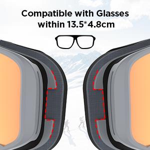 LEMEGO Occhiali da Sci Anti-Nebbia Maschere da Sci OTG Occhiali da Sci Protezione UV400 Occhiali da Neve con Doppia… 49f7e562 5691 4553 9f8d 8c316b561821.