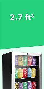 2.7 cuft beverage cooler