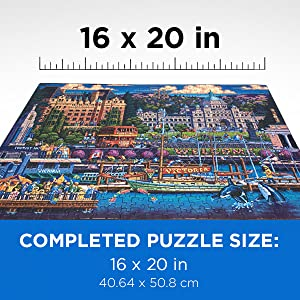 16x20 inches completed puzzle size