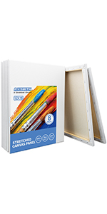 """12x16"""" stretched canvases 8 pack"""
