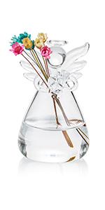 glass angel bud vases
