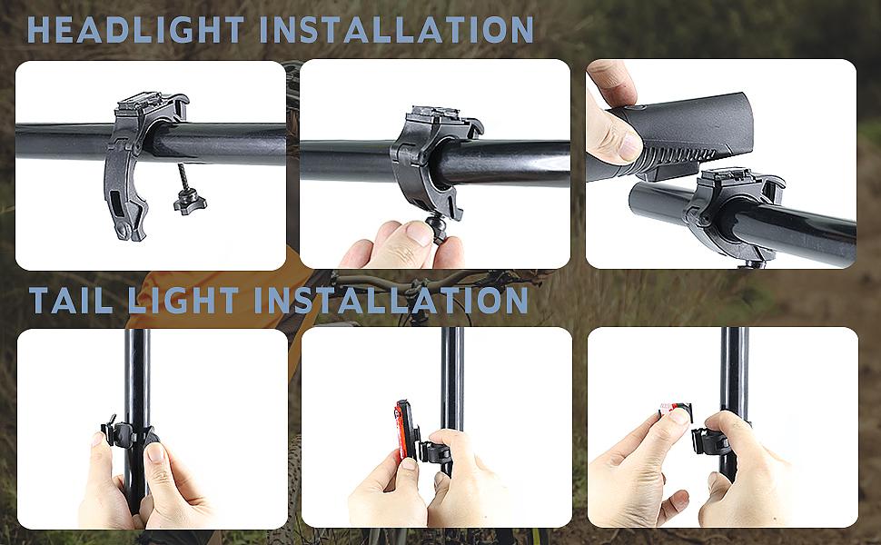 bike light install