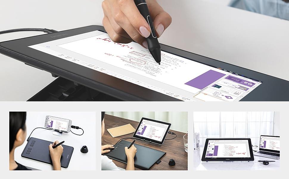 drawing tablet pen display