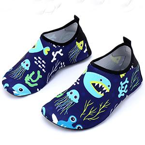 Oasiss Baby Boys Girls Water Shoes,Unisex Cartoon Quick Dry Swim Beach Shoes Non-Slip Barefoot Aqua Sock for Pool Walking Surfing