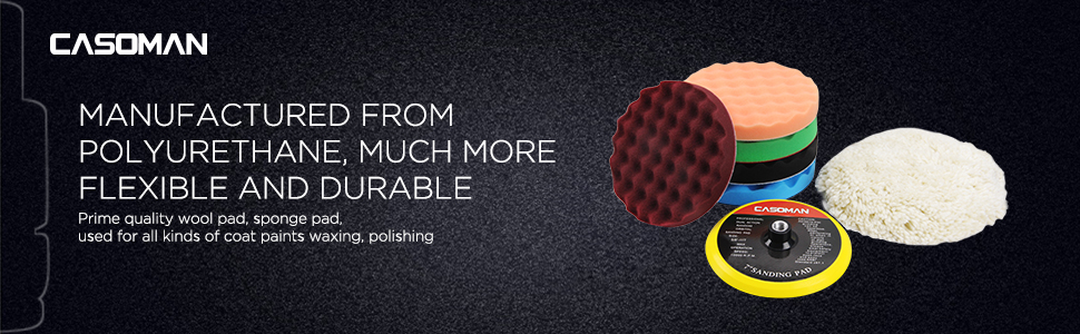 Manufactured from Polyurethane, much more flexible and durable. Prime quality wool pad, sponge pad