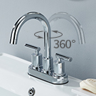 2 Handles Bathroom Faucet