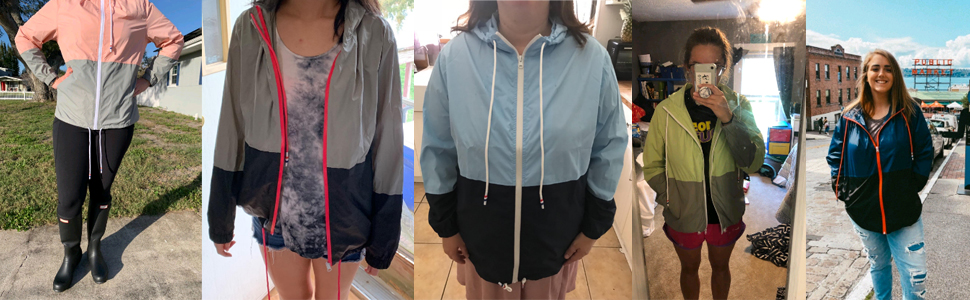 waterproof jacket womens rain jacket rain coats windbreaker jacket lightweight raincoat