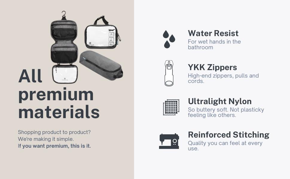 premium toiletry bag, luxury toiletry bag, premium toiletry bag set, luxury toiletry kit