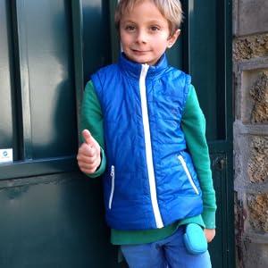 kid holding tracker
