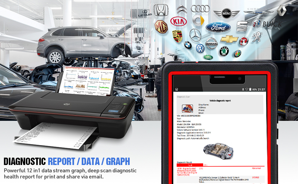 LAUNCH X431 PRO Mini(Same Functions as X431 V+) Bi-Directional OBD2 Scanner  Full Systems Diagnostic Scan Tool, ECU Coding, Key Coding, TPMS Reset,