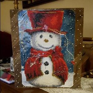 snowman diamond painting