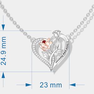 rose flower necklace for women