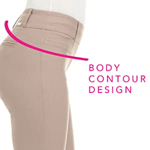 body contour comfort pull on waistband