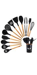 silicone spatula spoons