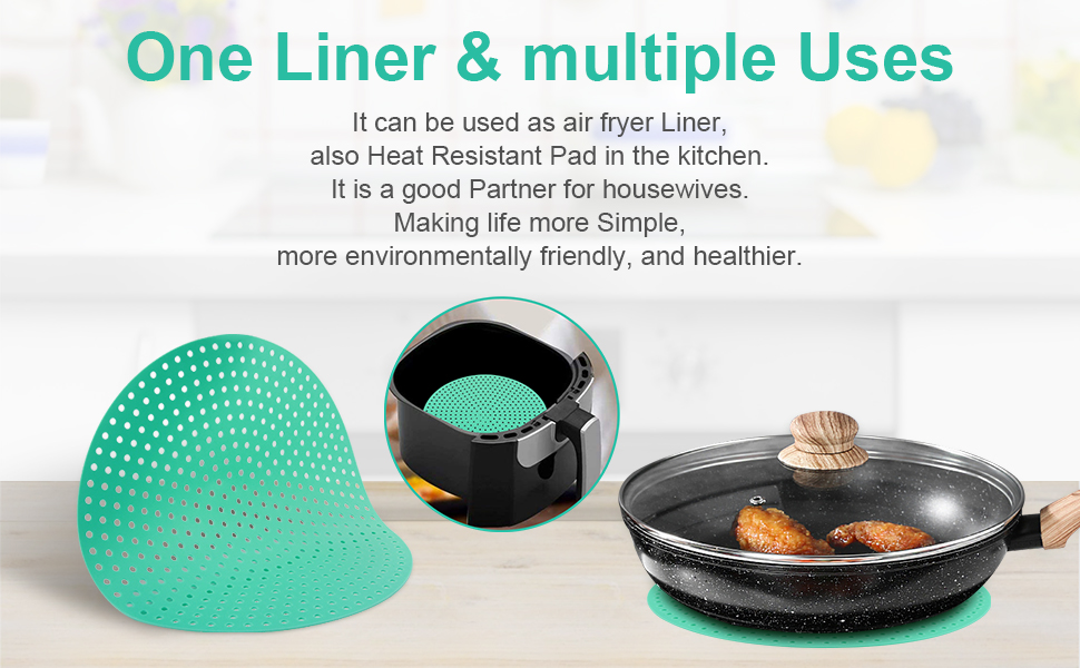 Reusable Air Fryer Liners GoWISE Nuwave Blackstone 8 Inch Non ...