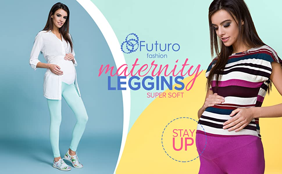 HQ Stretchy Maternity Leggings Over Bump Full Length Size 8 10 12 14 16 18 1000