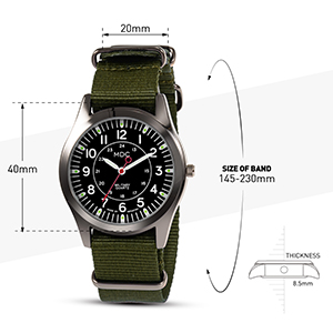 Mens Military Watches Tactical Field Army Wrist Watch Sport Outdoor Work Casual Green Nato Quartz