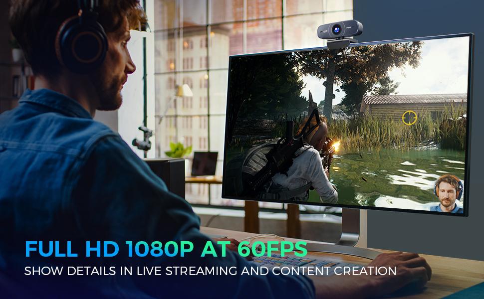 webcam 1080p 60fps autofocus