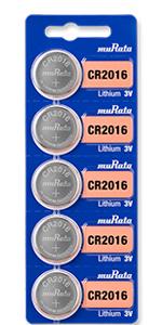 Murata lithium battery, size CR2016