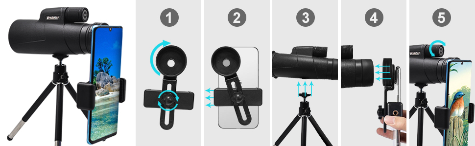 High Definition Monocular with Phone Adapter