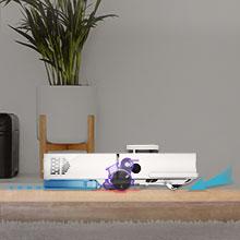 With self-adjusting main brush, cleaner floors