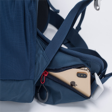 Dual zipped Hip-belt Pockets on both side allow easy access to small items.