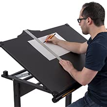 Stand Up Desk Store manual height adjustable drawing drafting table generous weight capacity