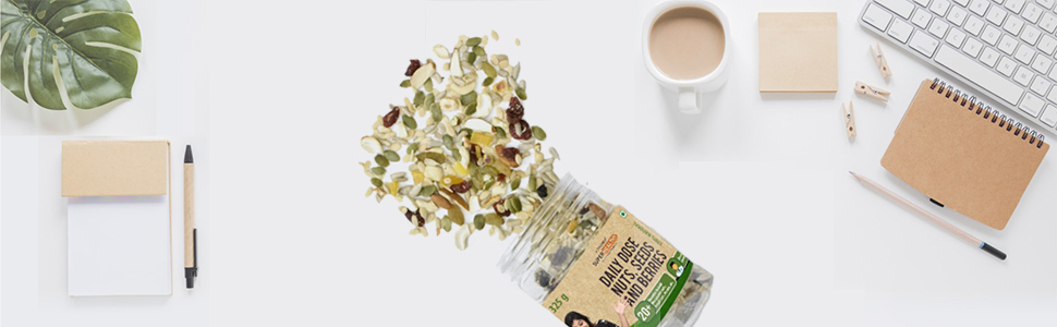 Super Healthy Dry Fruit Nuts, Seeds & Berries Mix,Nutritious and Crunchy Trail Snack