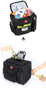 large cooler bag with multiple pockets