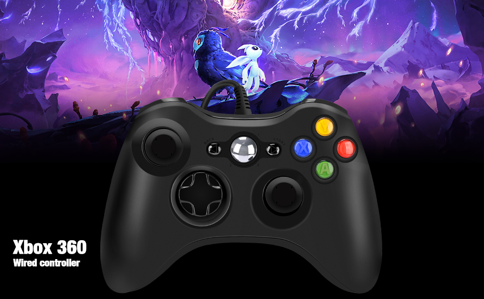 Xbox 360 Wired Game Controller, USB Wired Gamepad Controller for Microsoft Xbox 360, PC Windows