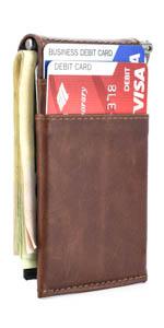 La cartera minimalista con 5 ranuras para tarjetas de crédito de Dockem
