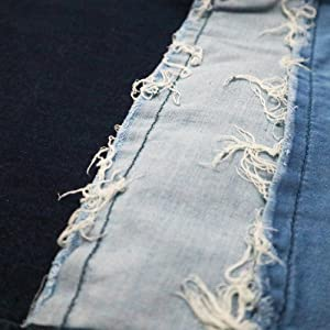 distressed patchwork jeans for women