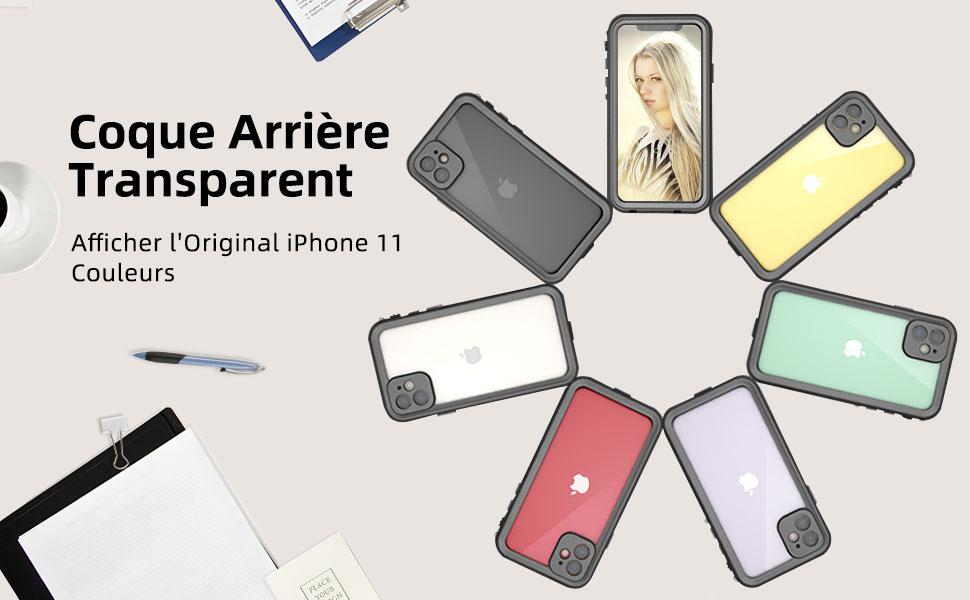 Beeasy Coque iPhone 12 Pro Max Antichoc,IP68 /Étanche 360 /° Protection Etui avec Protecteur d/Écran Int/égr/é,Imperm/éable Waterproof Anti-Neige Antipoussi/ère Anti-Chute Housse Case,Noir