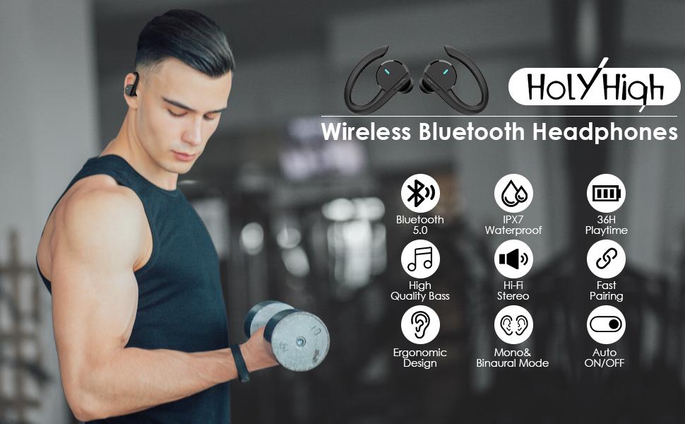 HolyHigh Bluetooth Wireless Headphones