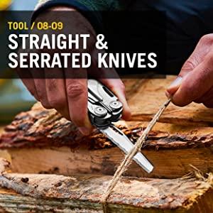 Straight Knives, Serrated Knives, Leatherman, Leatherman Surge, Multitool, Multipurpose Tool